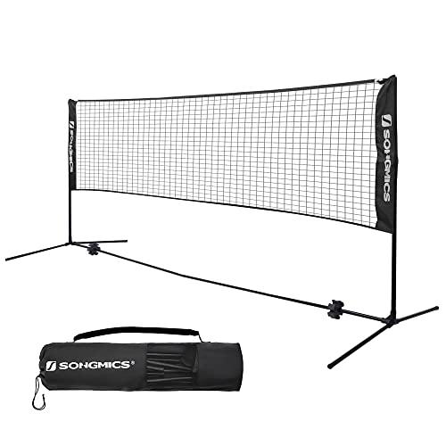 Badmintonnetz SONGMICS 4 m Höhenverstellbar mit Ständer